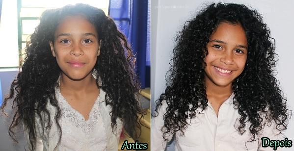 Antes e depois da umectação capilar. (Foto: Divulgação)